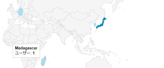 マダガスカルからのアクセス地図