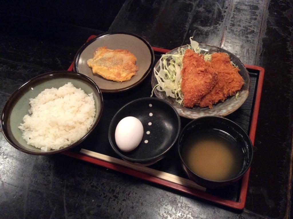 白身魚のピカタ(黄金焼き)とハムカツ