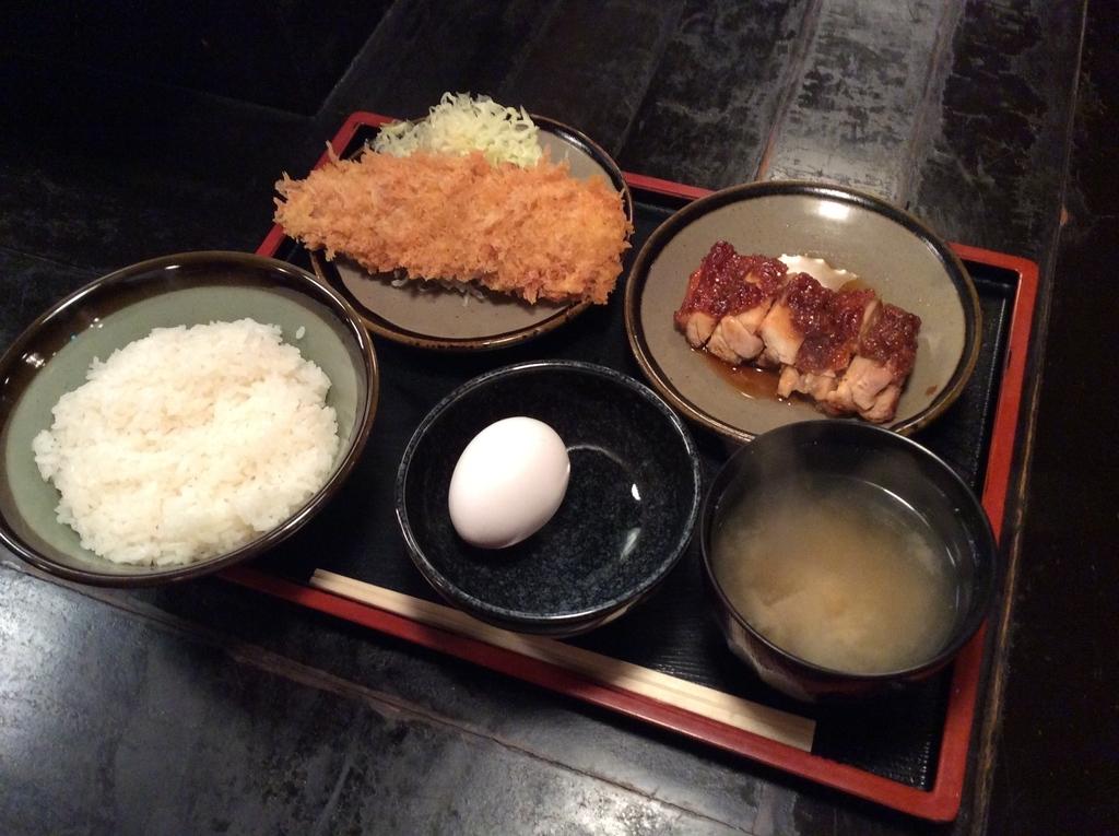 鮭のフライと鶏の照り焼き