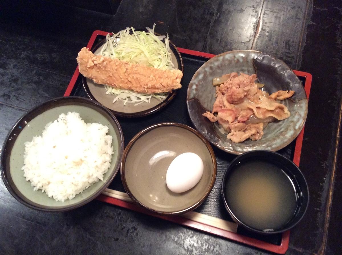 鯖の唐揚げと生姜焼き