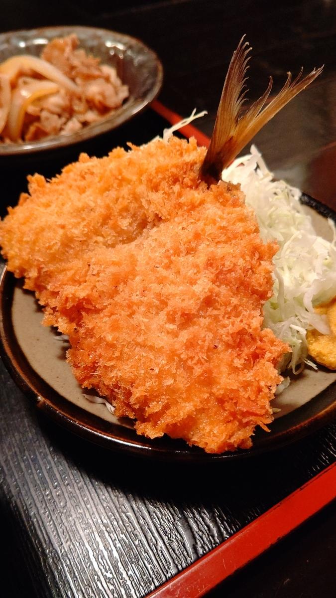 アジフライと生姜焼き