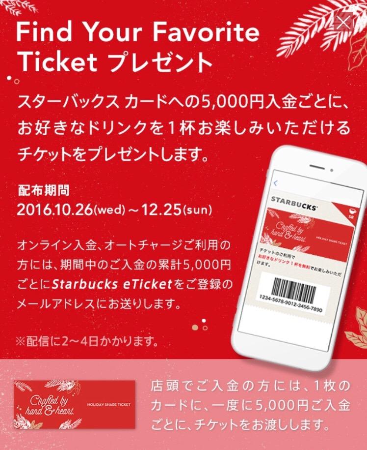 スタバの5000円チャージドリンクプレゼント