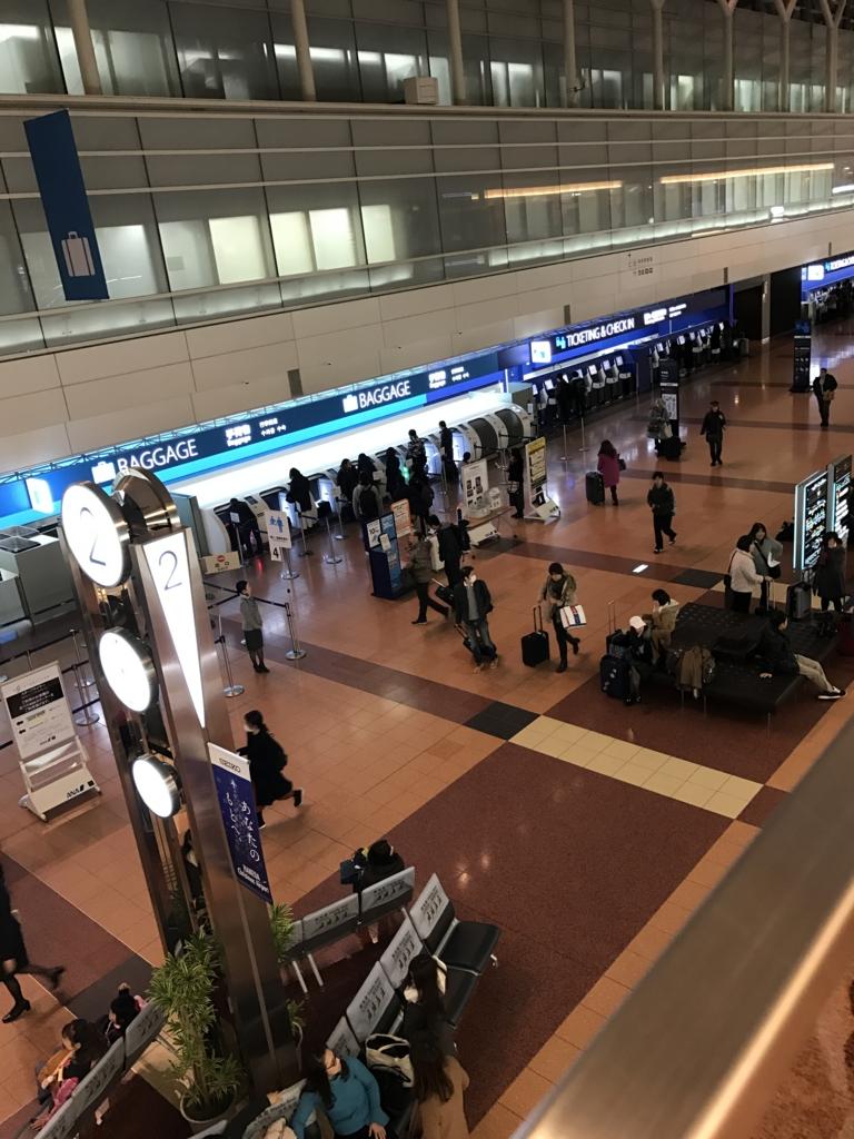羽田空港第2ターミナルの早朝風景写真