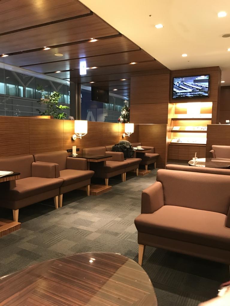 羽田空港第2ターミナルの空港ラウンジ内設備