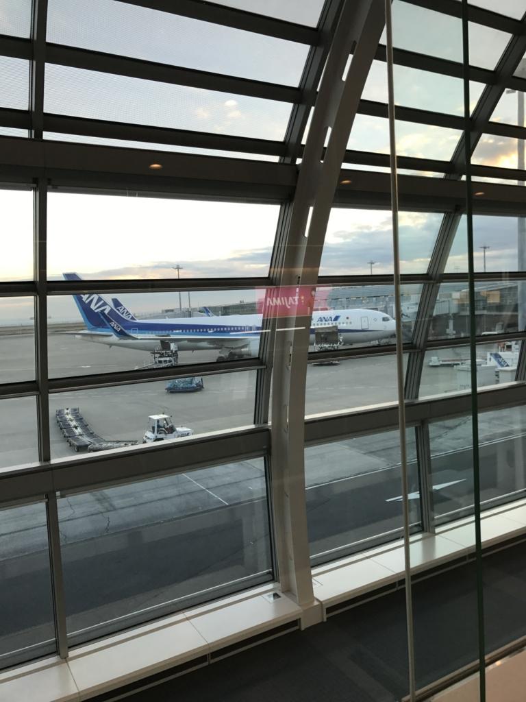 ANAフライト直前の飛行機の写真