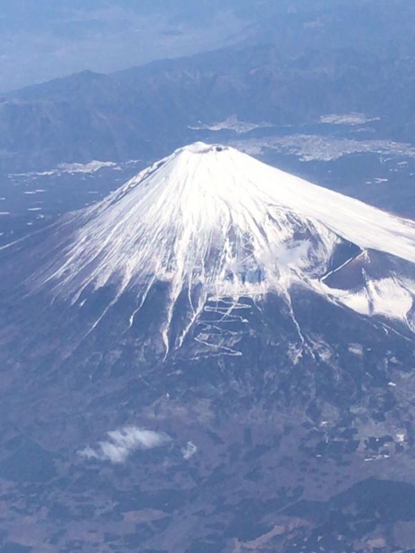 ANA飛行機から見た富士山3