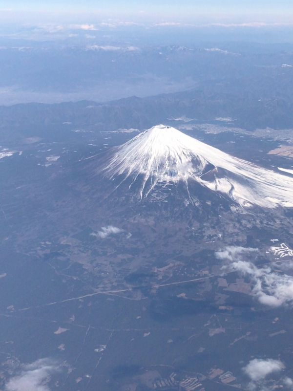 ANA飛行機から見た富士山2