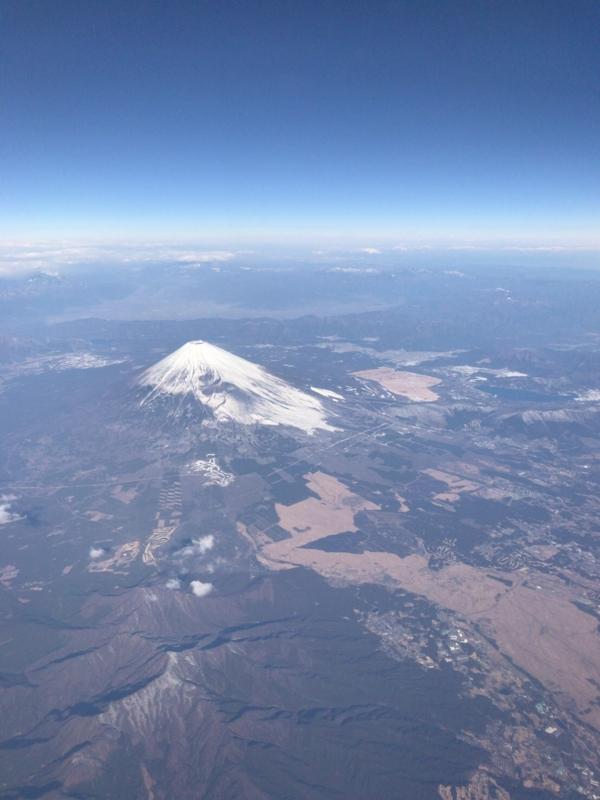 ANA飛行機から見た富士山1
