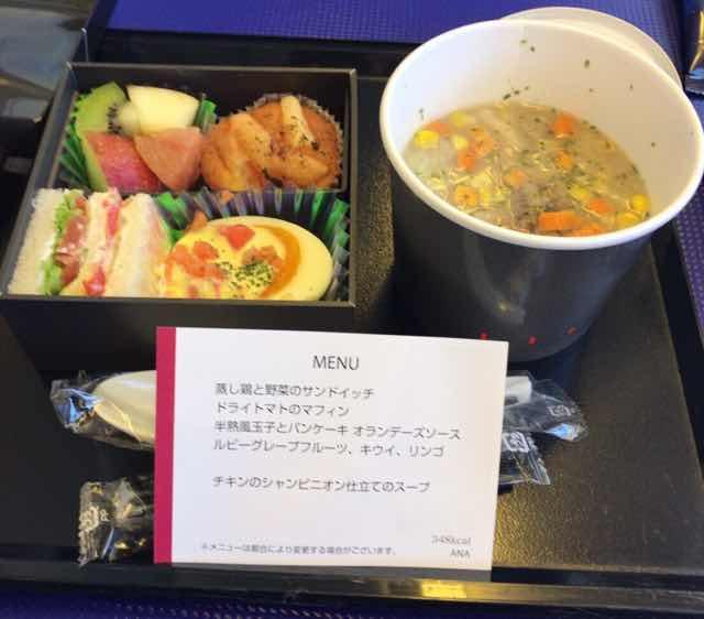ANA国内線プレミアムクラスの機内食(朝食)