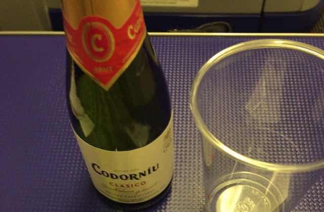 ANAプレミアムクラスのスパークリングワイン