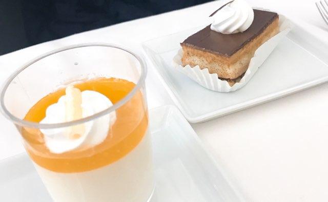 ANAビジネスクラスの機内食のデザート