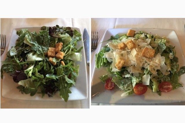 ハワイのルースズクリス ステーキハウスの前菜サラダ