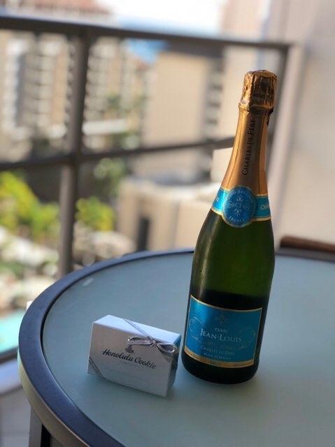 ハワイのトランプホテルのシャンパンプレゼント