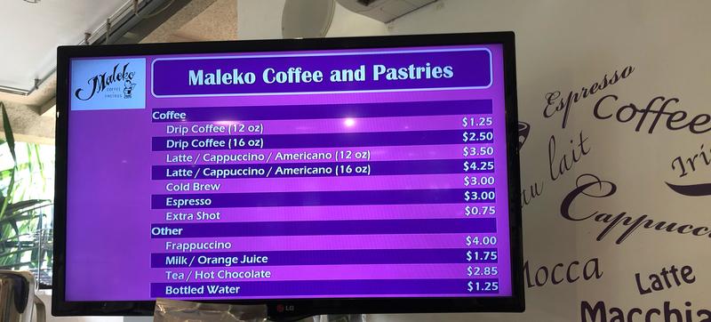 ハワイ ワイキキのパン屋さん「マレコ」のドリンク