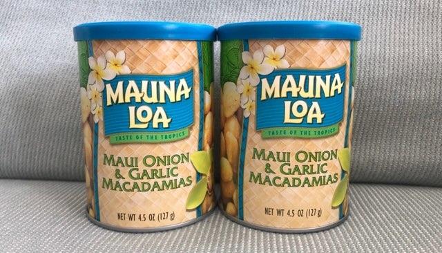 アラモアナセンターのフードランドで購入したMAUNA LOA オニオン&ガーリック味
