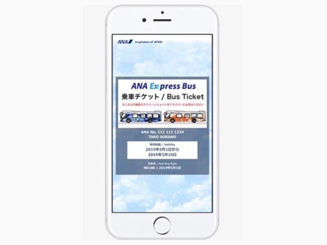 ハワイのANAエクスプレスの乗車チケット