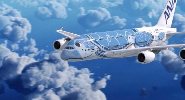 ANAハワイ便の新機材A380「フライングホヌ」
