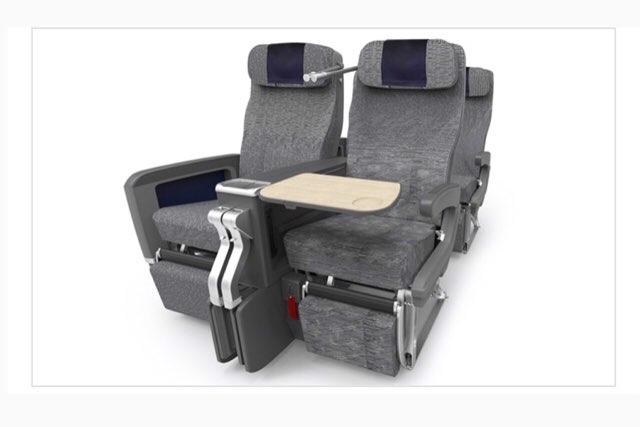 ANAハワイ便 A380のプレミアムエコノミーの座席