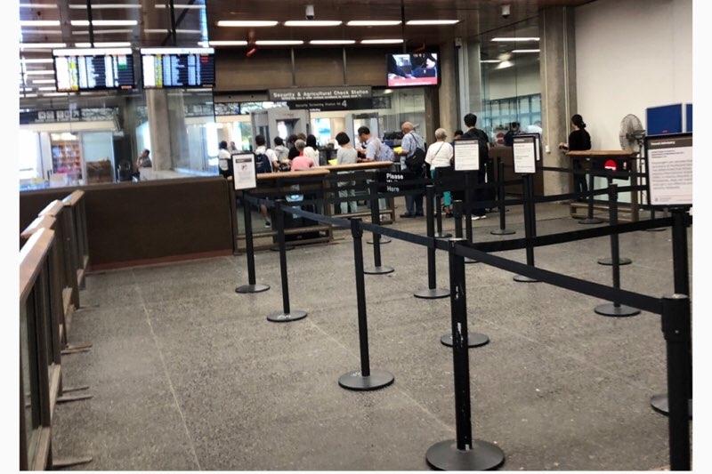 ホノルル空港(ダニエル・K・イノウエ国際空港)の優先レーン「GOLD LANE」の混雑状況