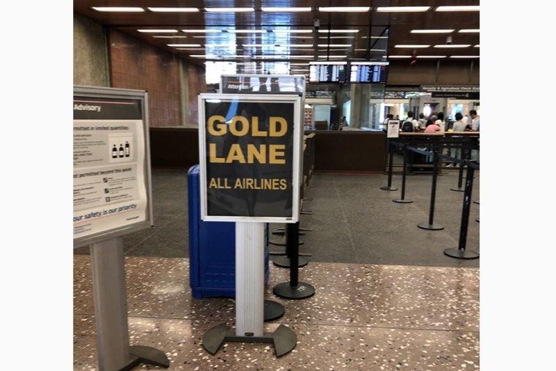 ホノルル空港(ダニエル・K・イノウエ国際空港)の優先レーン「GOLD LANE」