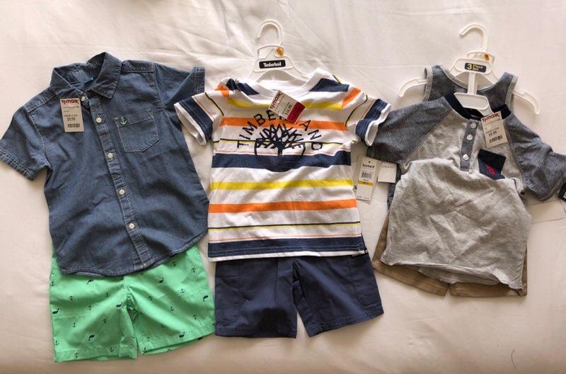 ハワイのT.J.Maxxで購入した戦利品の男の子の子供服
