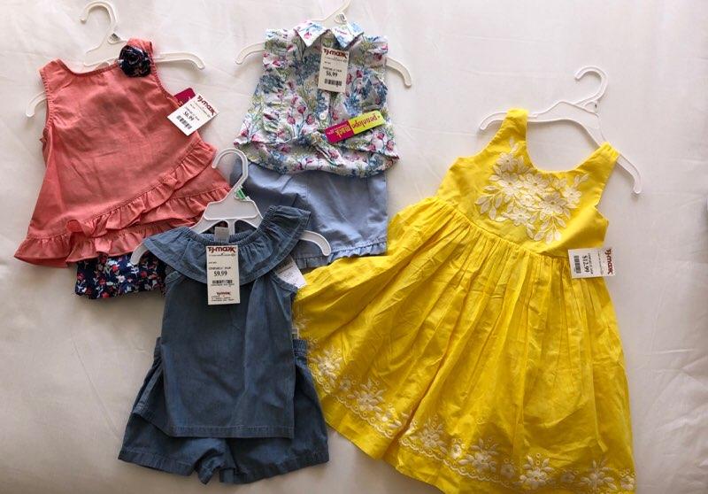 ハワイのT.J.Maxxで購入した戦利品の女の子の子供服