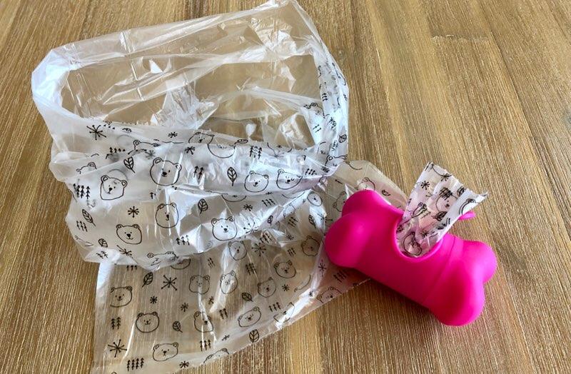 子供の食事の片付けに便利な100円ショップダイソーで売っているペット用マナー袋