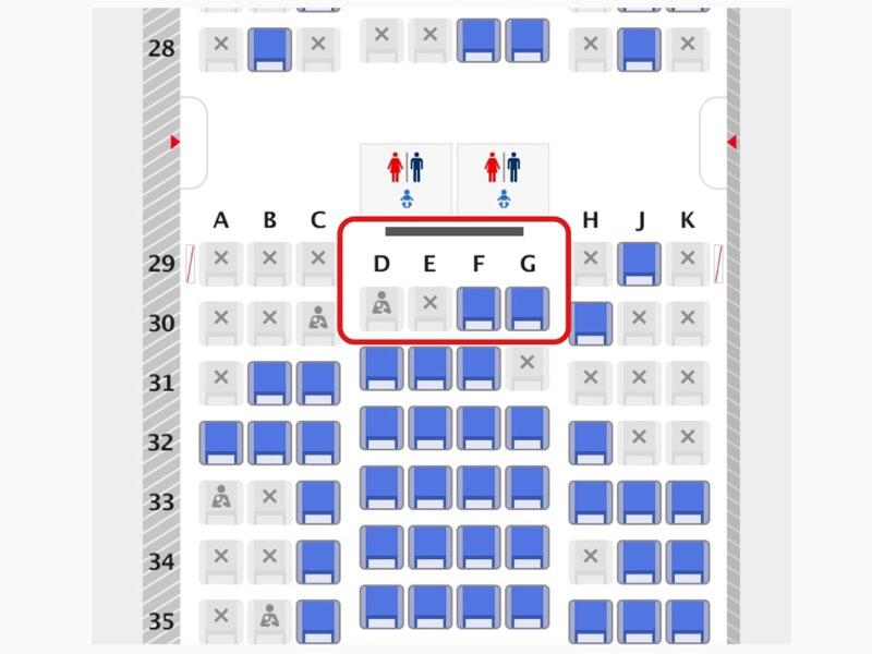ANA国内線でベビーベッドが利用できる座席
