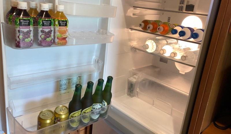ザ・プリンス・ヴィラ軽井沢のテラスタイプの飲み放題の冷蔵庫の中身