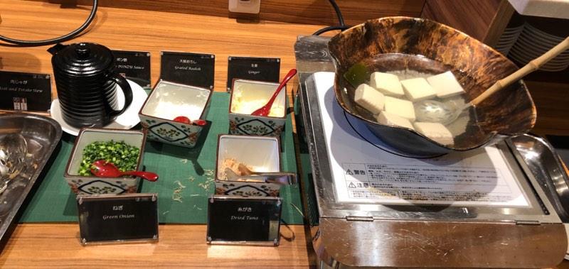 ザ・プリンス・ヴィラ軽井沢のセンターハウスの朝食 和食のブッフェメニュー