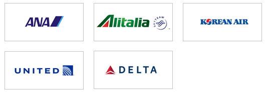 陸マイラー最強カードで貯めたダイナースポイントは航空会社のマイルに移行ができます。移行ができる航空会社はANA(全日空)、ユナイテッド航空、大韓航空、デルタ航空、アリタリアイタリア航空の5社となります。