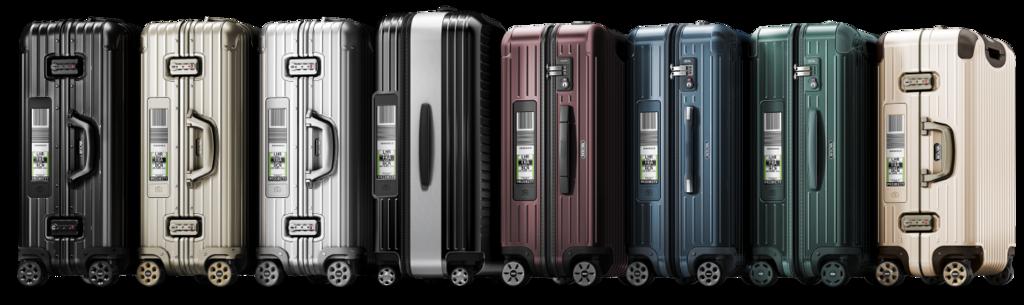 2016年に世界初となる電子タグを搭載したリモワのスーツケースです。リモワの代表的なトパーズやサルサを始め、その他のシリーズにも電子タグを搭載した商品を発売しました。今後、空港で電子タグ搭載のリモワのスーツケースが増えていきそうですね。