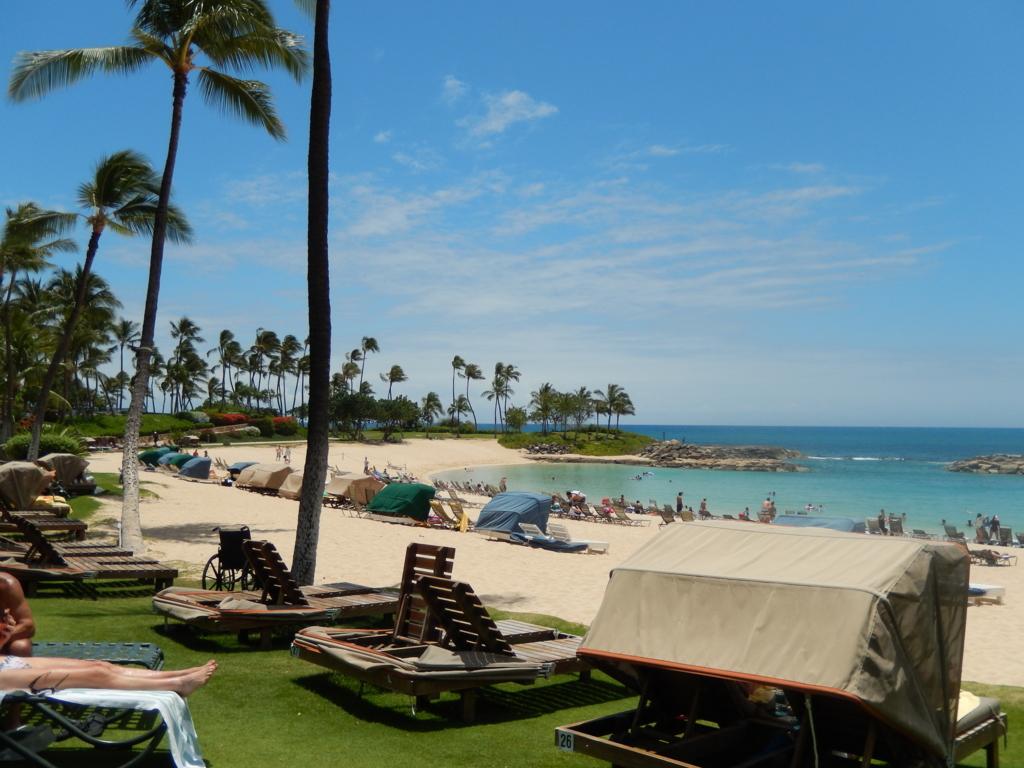 マリオットコオリナビーチクラブのビーチはプライベートビーチです。宿泊者宿泊者しかおらず波も穏やかで、本当に最高のハワイ旅行を楽しめます。