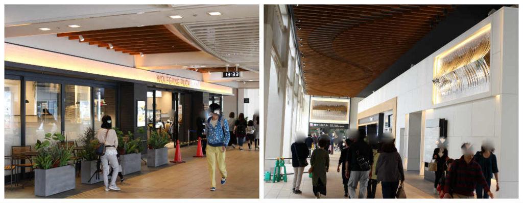 雰囲気が一変した伊丹空港一階