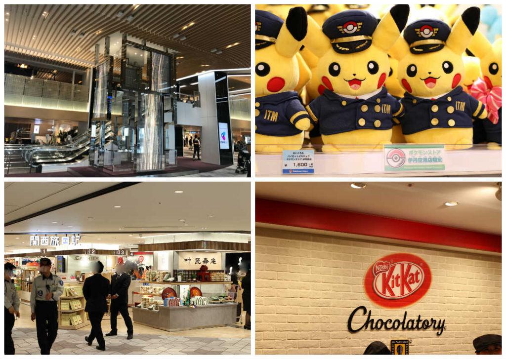 伊丹空港二階中央には様々なショップが集結
