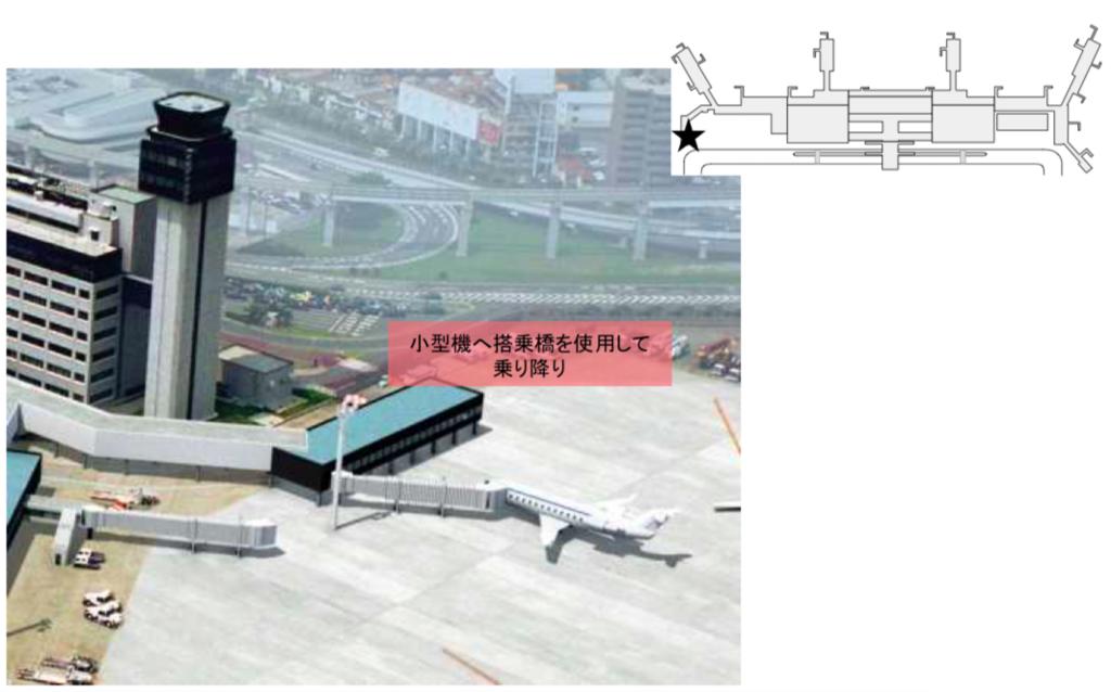 伊丹空港小型機用フィンガー
