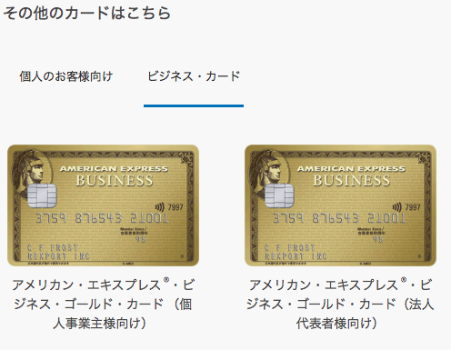 アメックスその他カード(ビジネス)