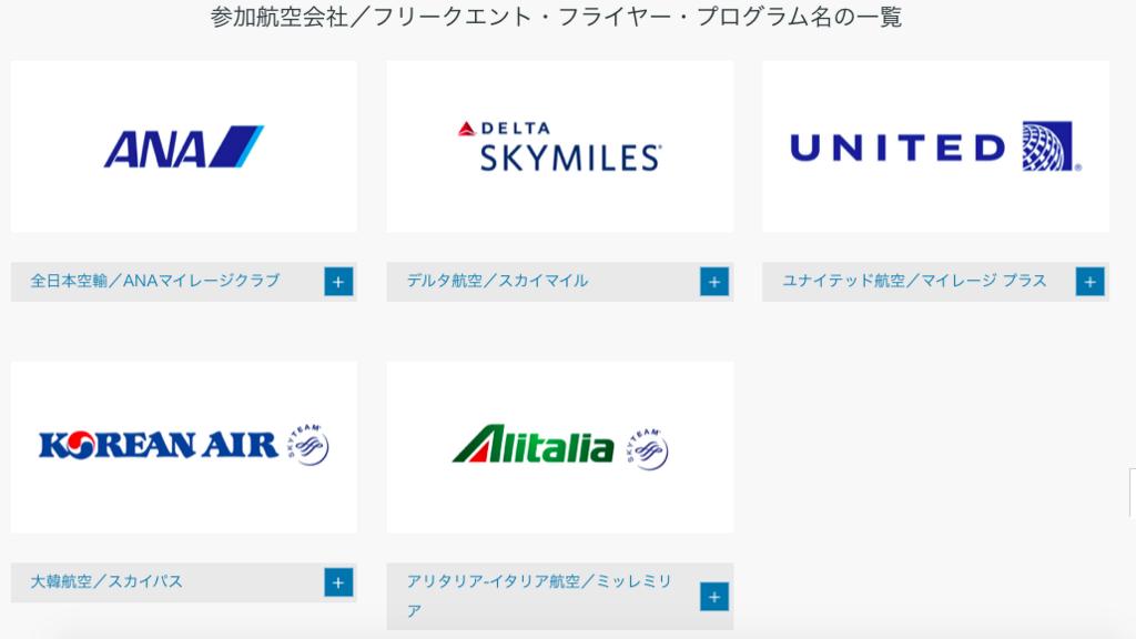 ダイナースは航空会社マイルへも交換しやすい