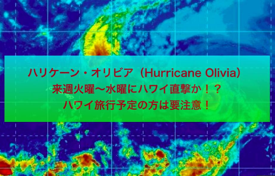 ハワイにハリケーン接近中:日本列島に台風接近中