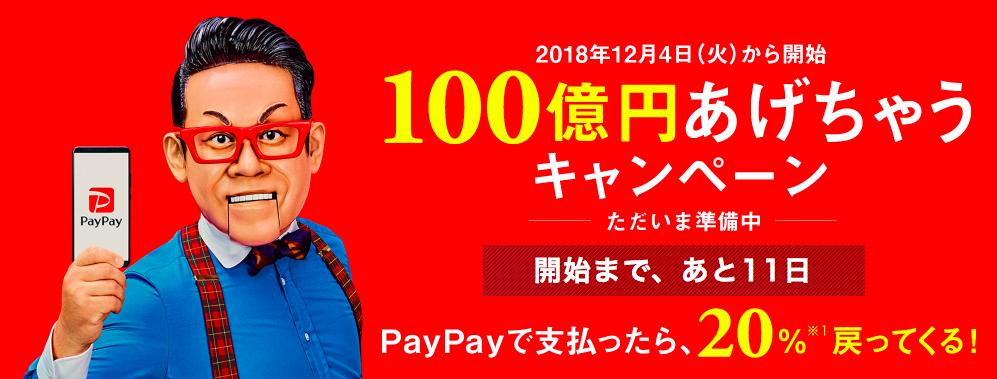 消費増税:PayPay:ペイペイ:100億:ポイント還元