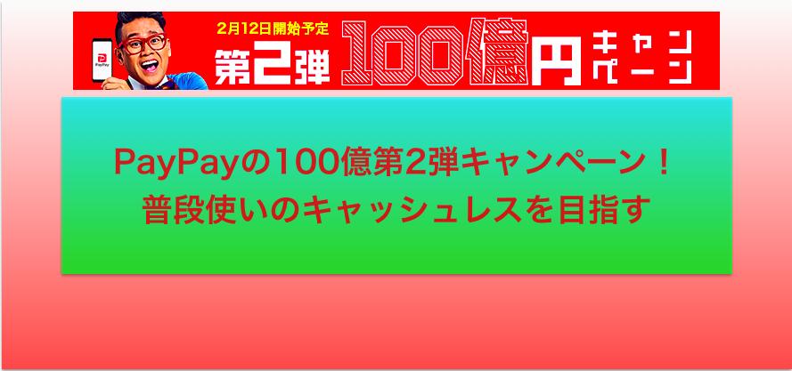 PayPay:ペイペイ:100億円:終了:消費増税:ポイント還元:消費税増税