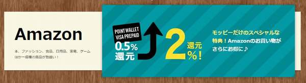 POINT WALLET VISA PREPAIDでAmazon2パーセント還元