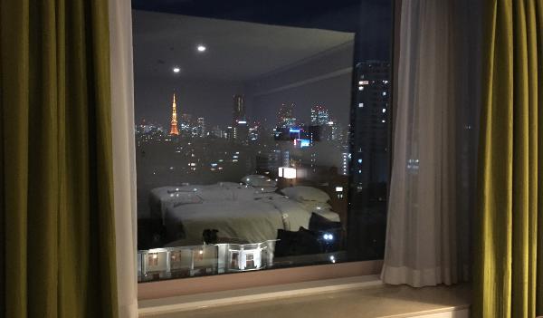 さくらタワーのタワーサイドから見える東京タワー