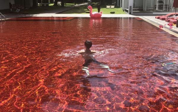 ザ・ライブラリーのRED POOLで泳ぐ