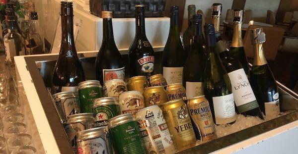 大阪マリオット都ホテルのクラブラウンジのアルコール