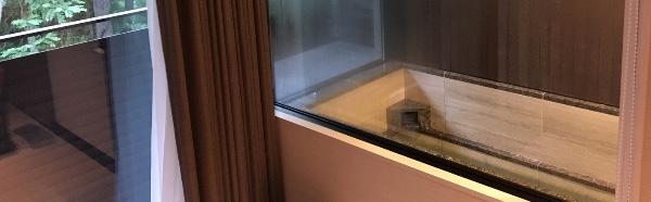 軽井沢マリオットホテルの室内温泉浴室