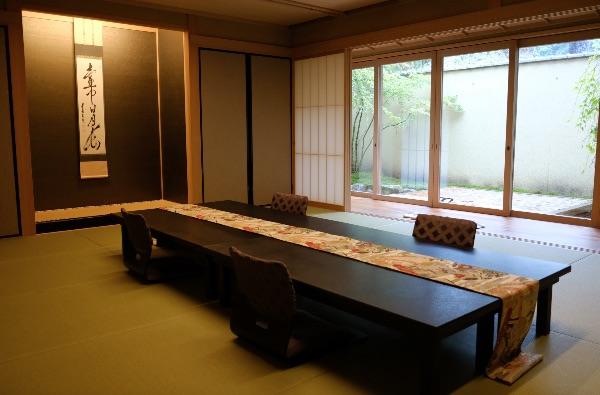 翠嵐の京月琴プレミアム和室リビングルーム