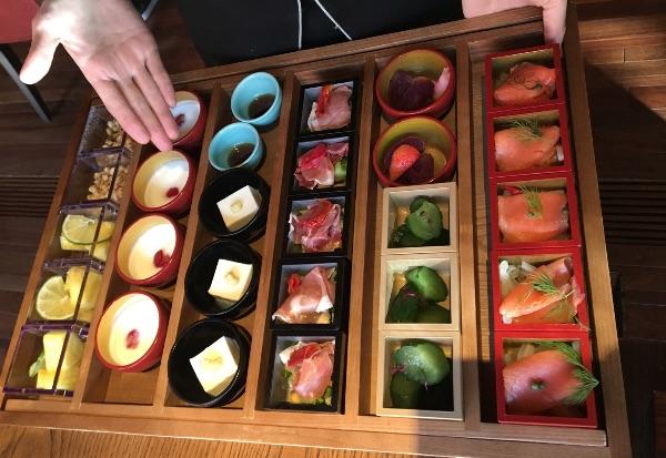 翠嵐の朝食の前菜