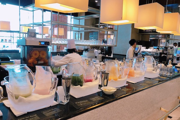 ザ・テラスの朝食ビュッフェのウェスティン・ジューサリー