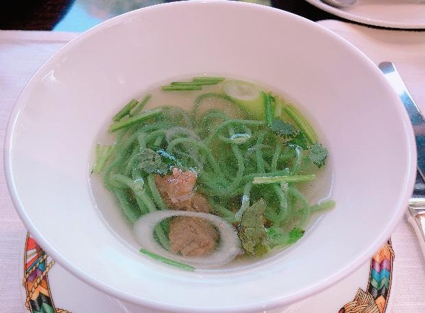 ザ・テラスの朝食ビュッフェの海藻麺フォー